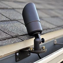 Gutter Mount installed with fixture in place