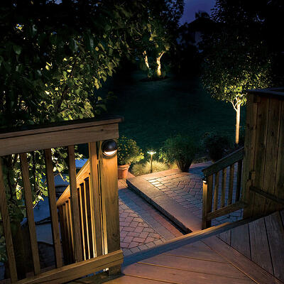 LED lighting is warmer in color temperature than solar lighting
