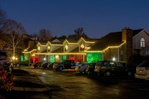 Holiday 2015 lighting at condos in Brentwood, TN