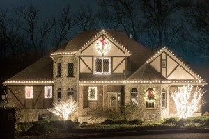 Holiday 2015 lights on home in Hermitage, TN