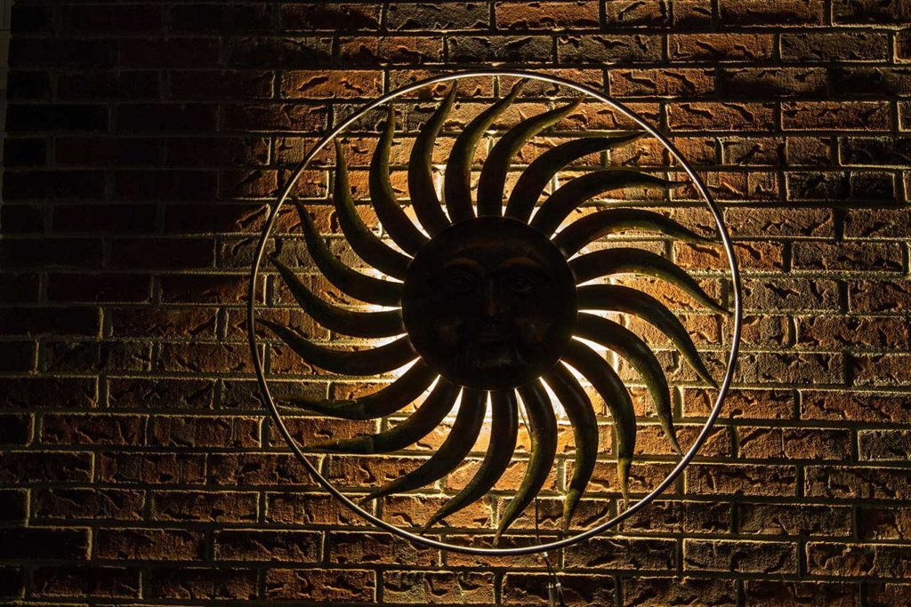 Speciality backlighting on wall art piece on home in Goodlettsville, TN