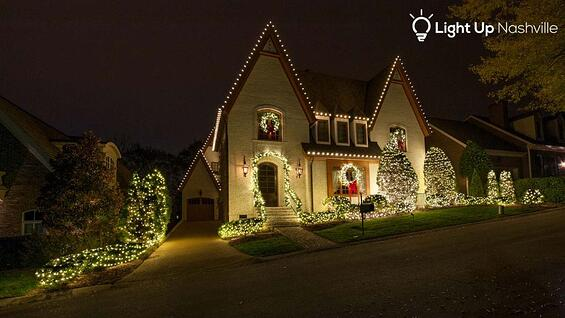 Holiday lighting in Brentwood, TN