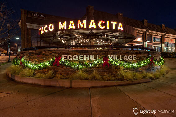 Taco Mamacita holiday display in Nashville, TN