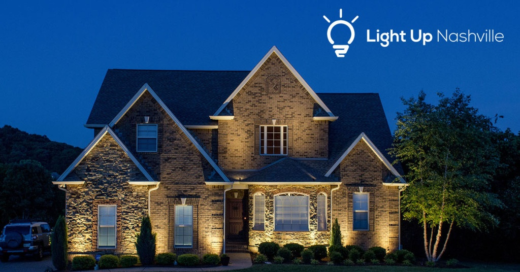 Outdoor lighting that increases curb appeal by Light Up Nashville