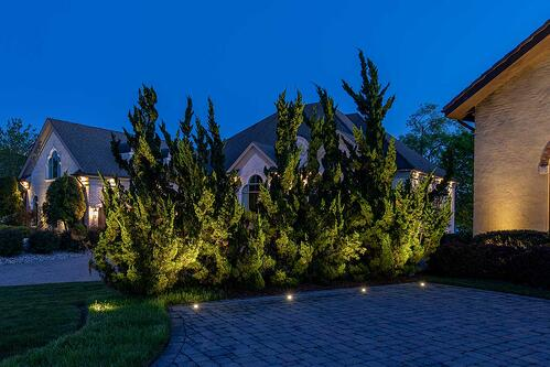 recessed up lights in concrete up lighting trees
