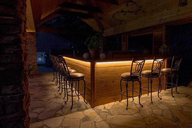 Why we love outdoor strip lighting and you should too under bar led strip lighting mozeypictures Choice Image